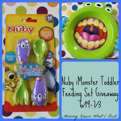 Blogger Opp: Nuby iMonster Toddler Feeding Set Giveaway