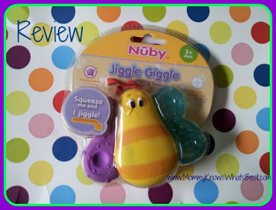 Nuby Jiggle Giggle Vibrating Teether for Babies