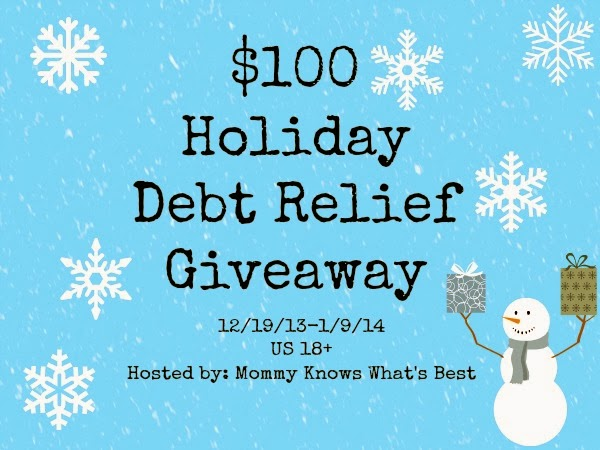 Holiday Debt Relief $100 Cash Giveaway 12/19-1/9