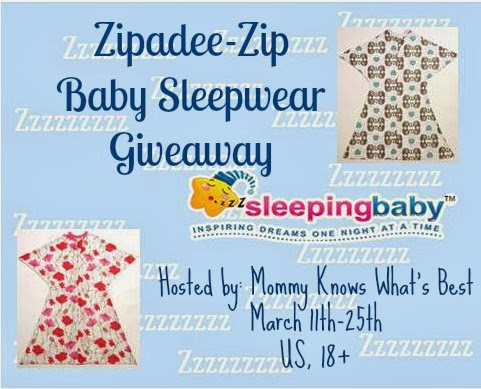 Zipadee-Zip from Sleeping Baby Giveaway 3/11-3/25