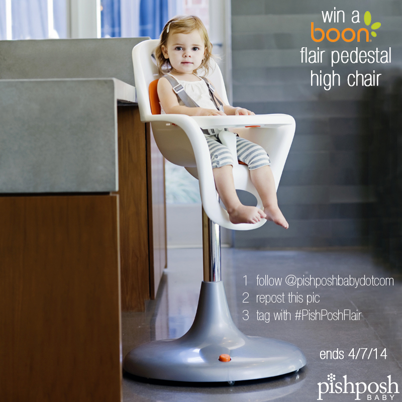 Boon Flair Pedestal High Chair Giveaway 4/2-4/7 #spon