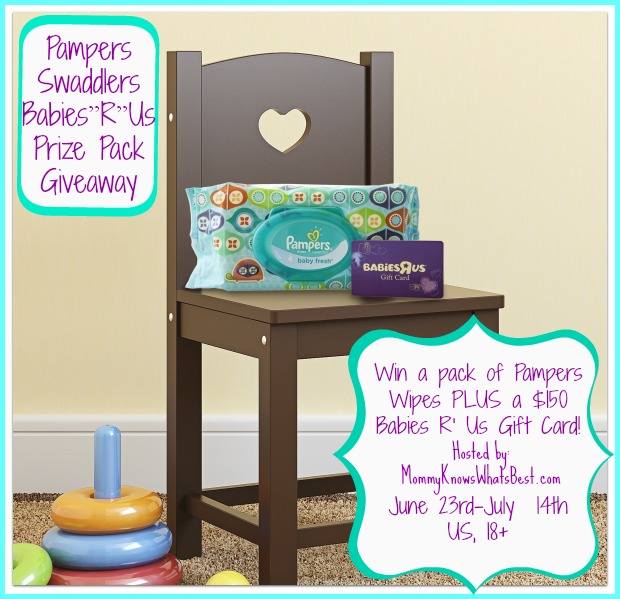 Pampers Baby Wipes & $150 Babies R' Us GC Prize Pack Giveaway {Ends 7/14- US Only} - Our-Wolves-Den