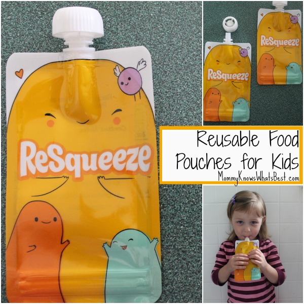 5 Reasons to Love the Reusable Food Pouch from ReSqueeze {Gi... (Mommy Knows What's Best)