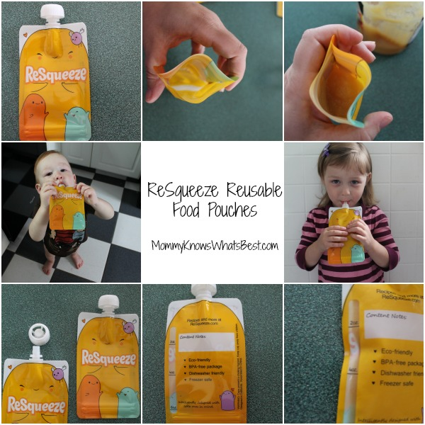 Resqueeze Reusable Food Pouches For Kids