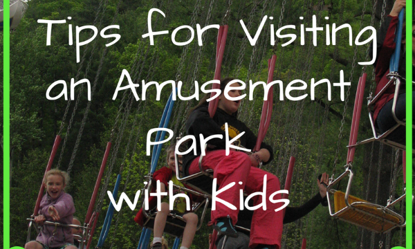 visiting an amusement park with kids