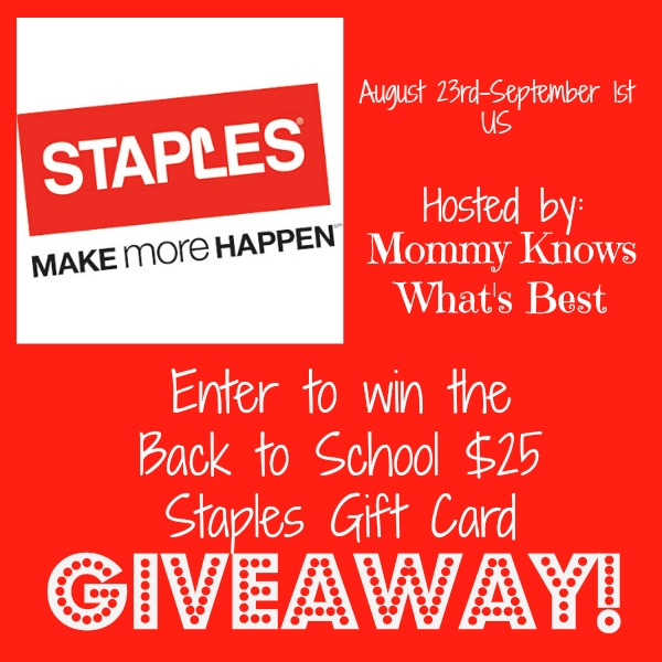 Staples gift card giveaway