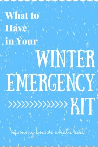 What to have in a winter emergency kit