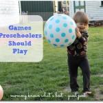 games preschoolers should play