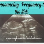 announcing pregnancy to kids
