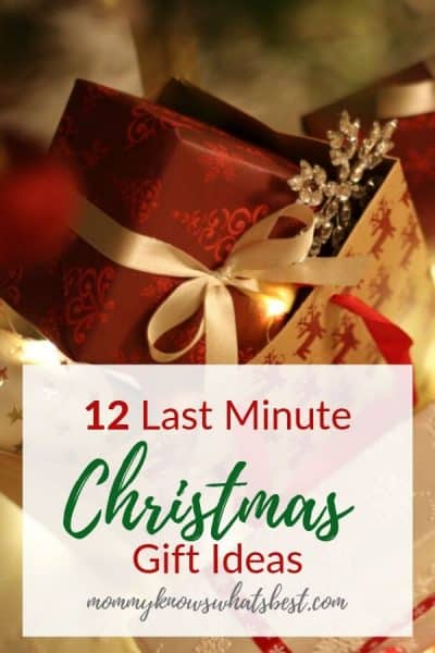 12 Last Minute Christmas Gift Ideas