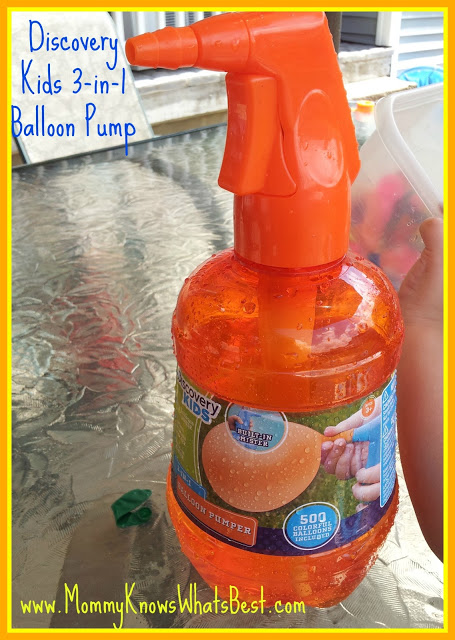 Water Balloon Fun in the Summer: Discovery Kids Balloon Pump Review