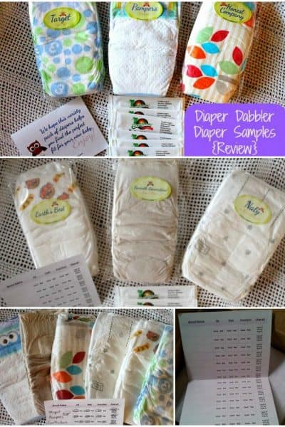 Sample Diaper Packs from Diaper Dabbler