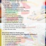 Kindergarten Readiness List