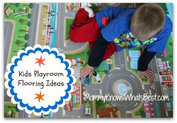 Kids Playroom Flooring Ideas, featuring a Reversible Playmat