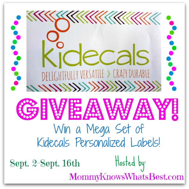 Kidecals Labels Giveaway