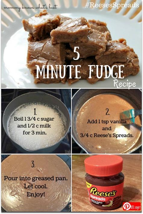 5 minute fudge recipe