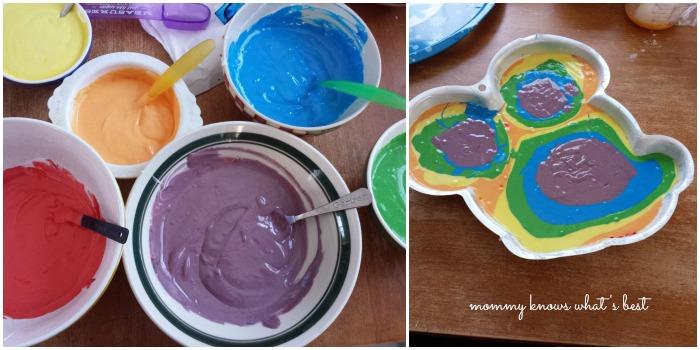 duff tie dye cake