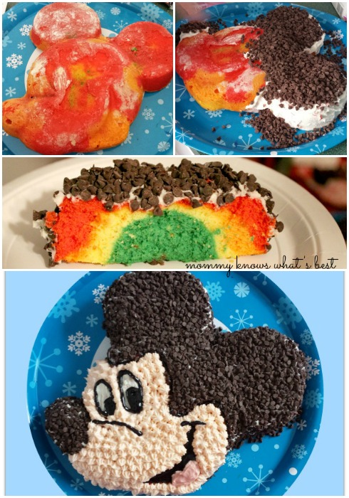 mickey mouse tie dye cake