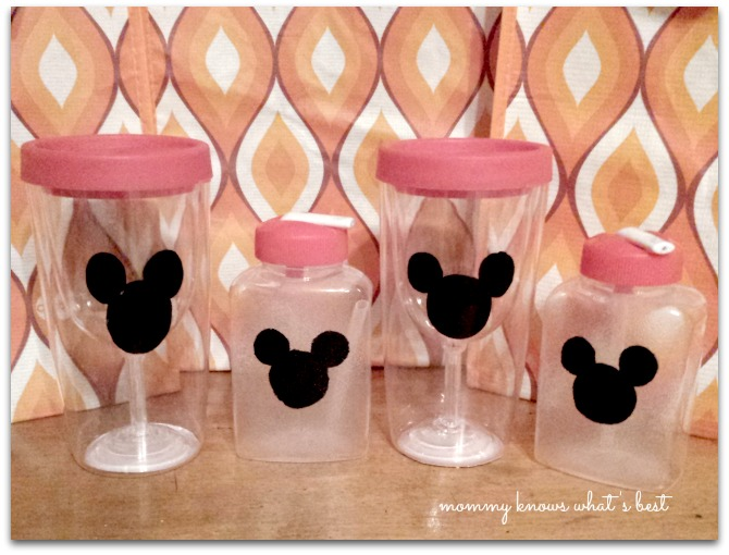mickey mouse wine glasses