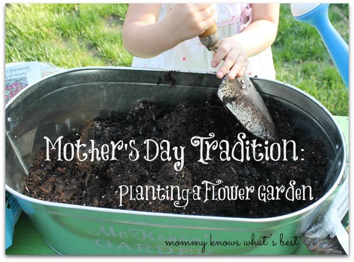 planting a flower garden