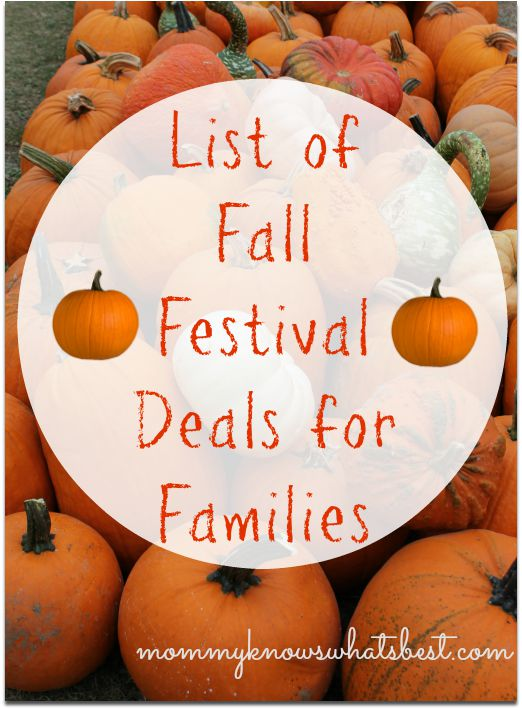 List of Fall Festival Deals for Families
