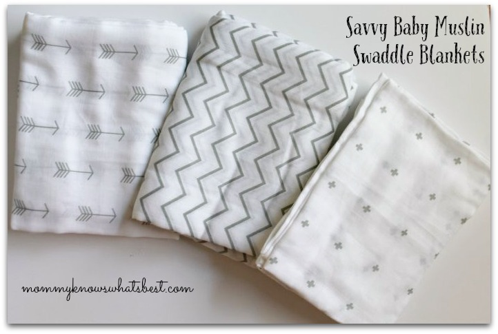 Savvy Baby Muslin Swaddle Blankets