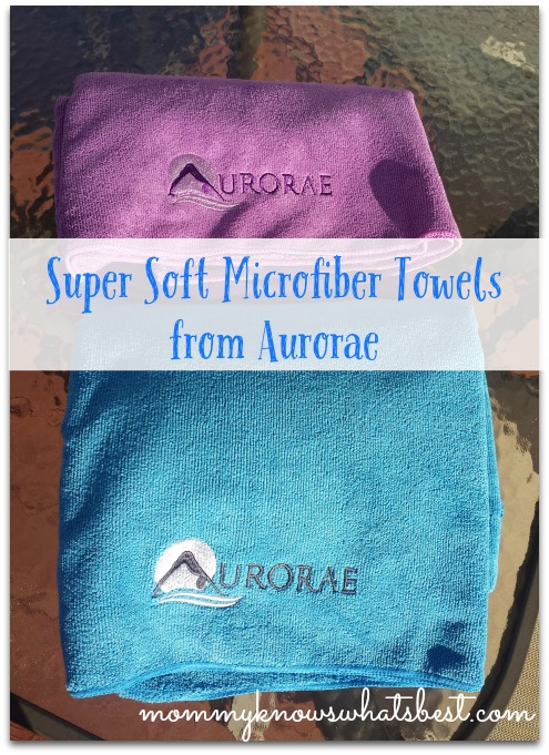 soft microfiber towels from Aurorae