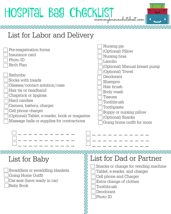 photograph relating to Printable Hospital Bag Checklist for Labor and Delivery identify Healthcare facility Bag Listing: What By yourself Should really Provide in direction of the