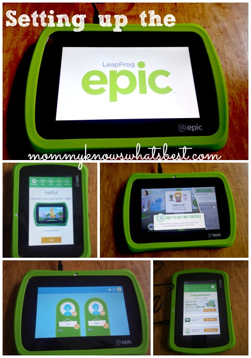 how to set up leapfrog epic tablet