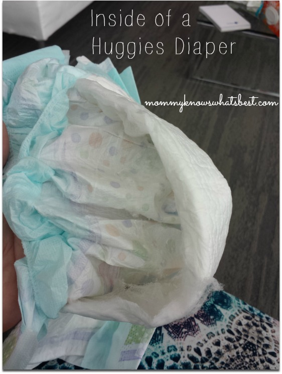 inside of a huggies diaper