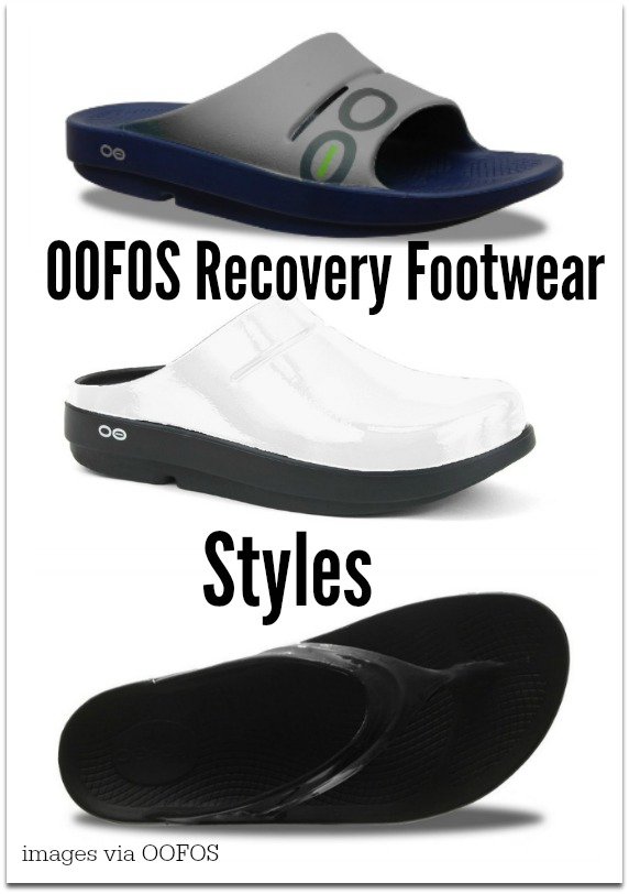 OOFOS recovery footwear styles
