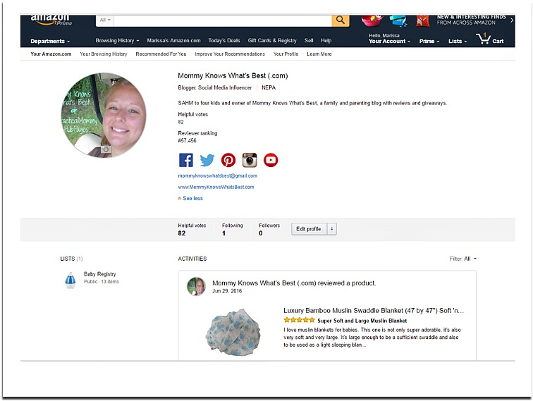 amazon profile