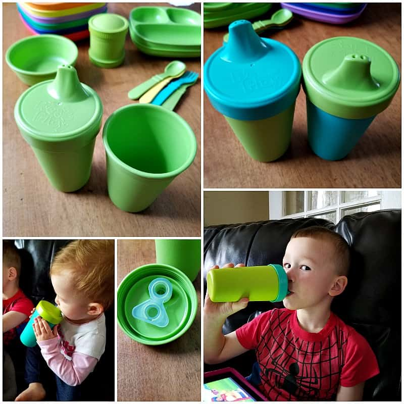 Re-play Recycled Cups: Sippy cups and tumblers for kids made with recycled, BPA free materials.
