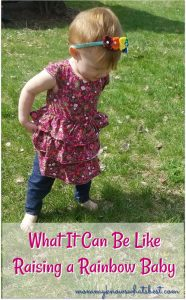 what it can be like raising a rainbow baby