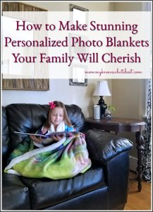 how to make personalized photo blankets for the family
