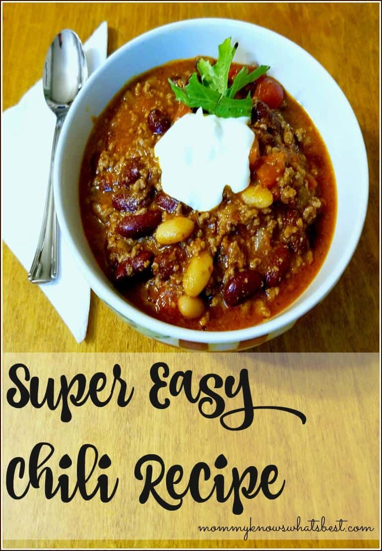 super easy chili recipe