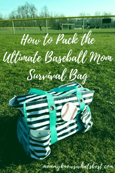 Ultimate Baseball Mom Survival Bag