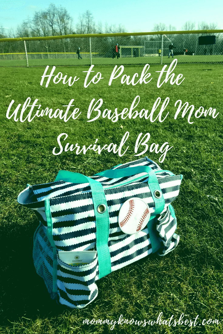 Ultimate Baseball Mom Survival Bag Checklist: Get a free printable to help you pack the Ultimate Baseball Mom Survival Bag!
