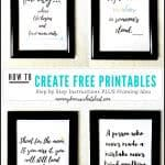 How to Easily Create Free Printable Quotes to Frame