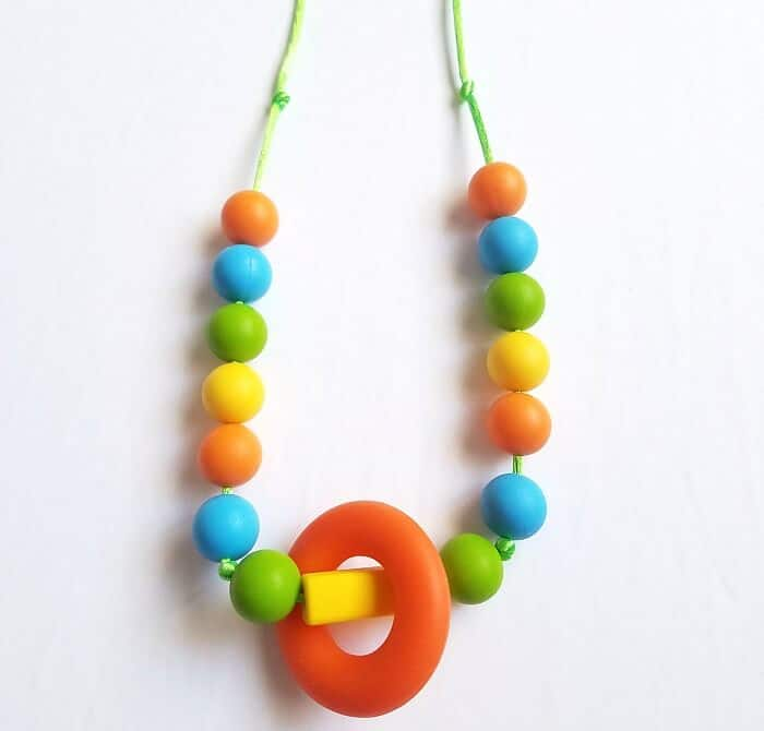 Fidget Necklace for Kids with Chewable Beads: Learn how to make one!