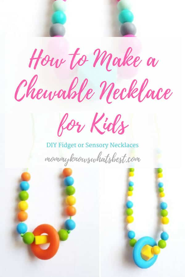 How to Make a Chewable Sensory Necklace for Kids : Learn how to use chewable beads to create sensory jewelry for kids.