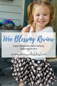Wee Blessing Review: An affordable subscription box for kids.