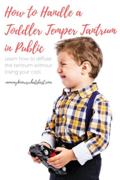 How to Handle a Toddler Temper Tantrum in Public