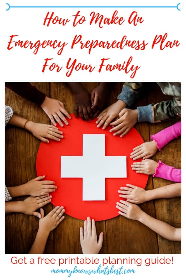 How to Make An Emergency Preparedness Plan For Your Family: Learn how to be ready with a family emergency plan for any kind of disaster. Get the free printable planning guide.