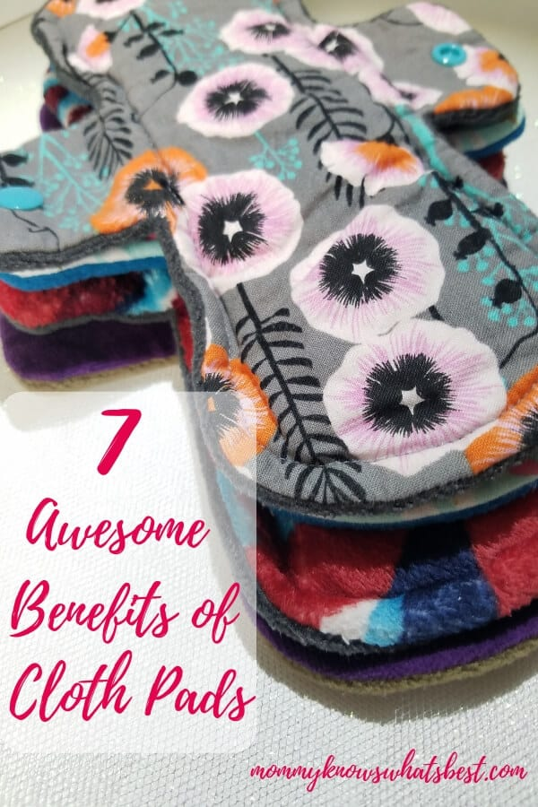 7 Awesome Benefits of Cloth Pads: What are the benefits of using cloth pads? Learn all about cloth menstrual pads and a Pink Lemonade Shop Review.