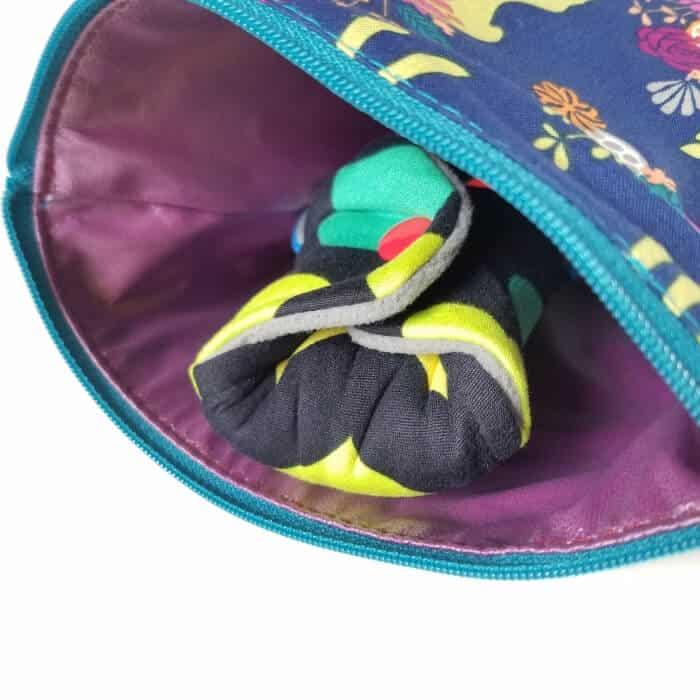 Cloth pads in a wet bag