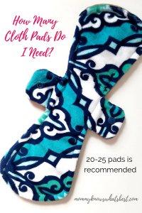How to Use Reusable Cloth Pads: How many cloth pads do I need?