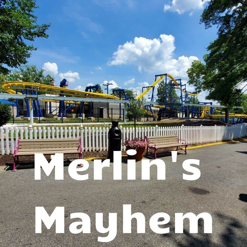 Merlins Mayhem roller coaster