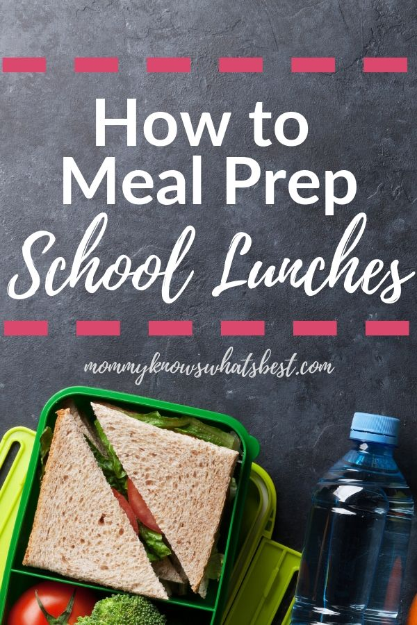 Learn how to meal prep school lunches | school lunch meal prep | school lunch meal planning