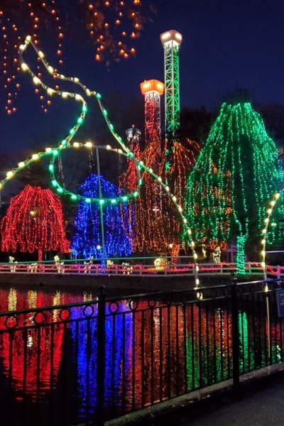 Hersheypark Christmas Candylane holiday light show NOEL